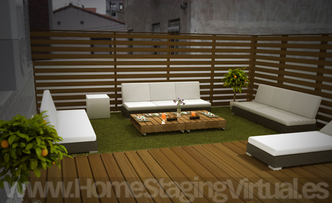 Home staging virtual trabajos - Fotos terrazas aticos ...